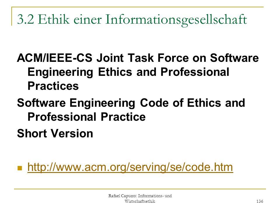 3.2 Ethik einer Informationsgesellschaft
