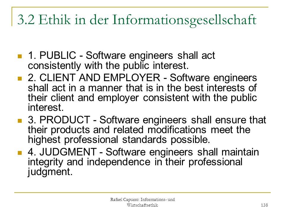 3.2 Ethik in der Informationsgesellschaft