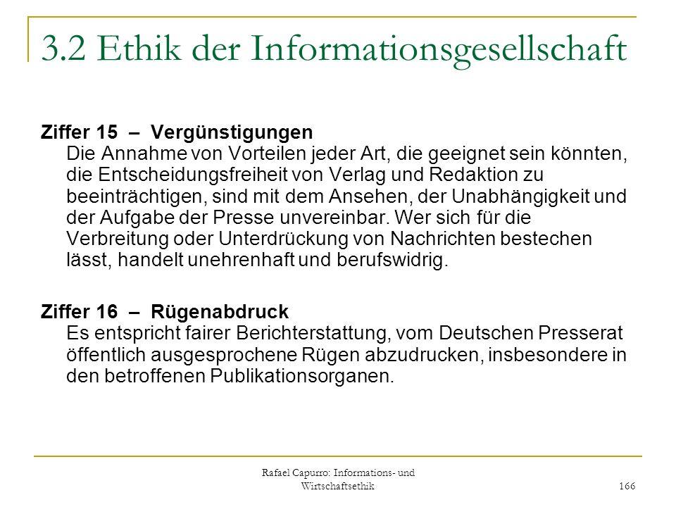 3.2 Ethik der Informationsgesellschaft