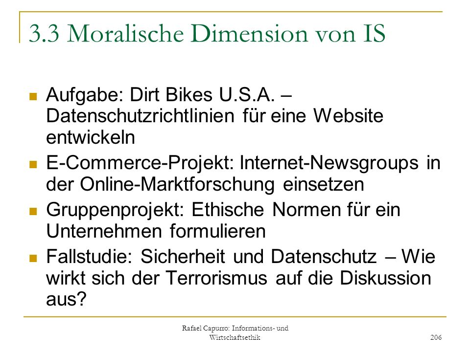3.3 Moralische Dimension von IS