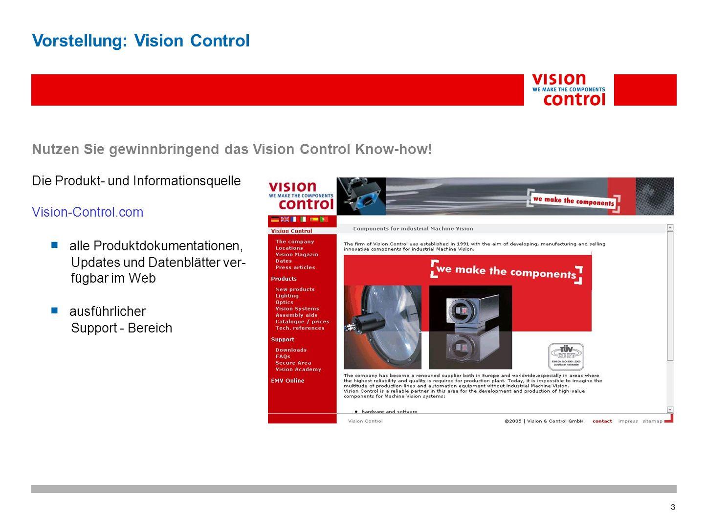 Vorstellung: Vision Control