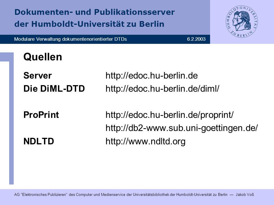 Quellen Server http://edoc.hu-berlin.de