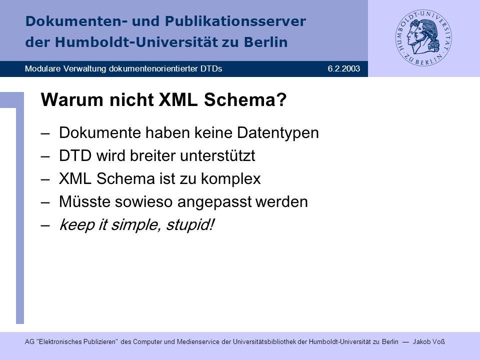 Warum nicht XML Schema Dokumente haben keine Datentypen
