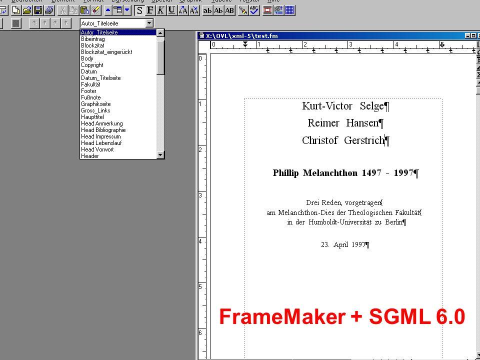FrameMaker + SGML 6.0