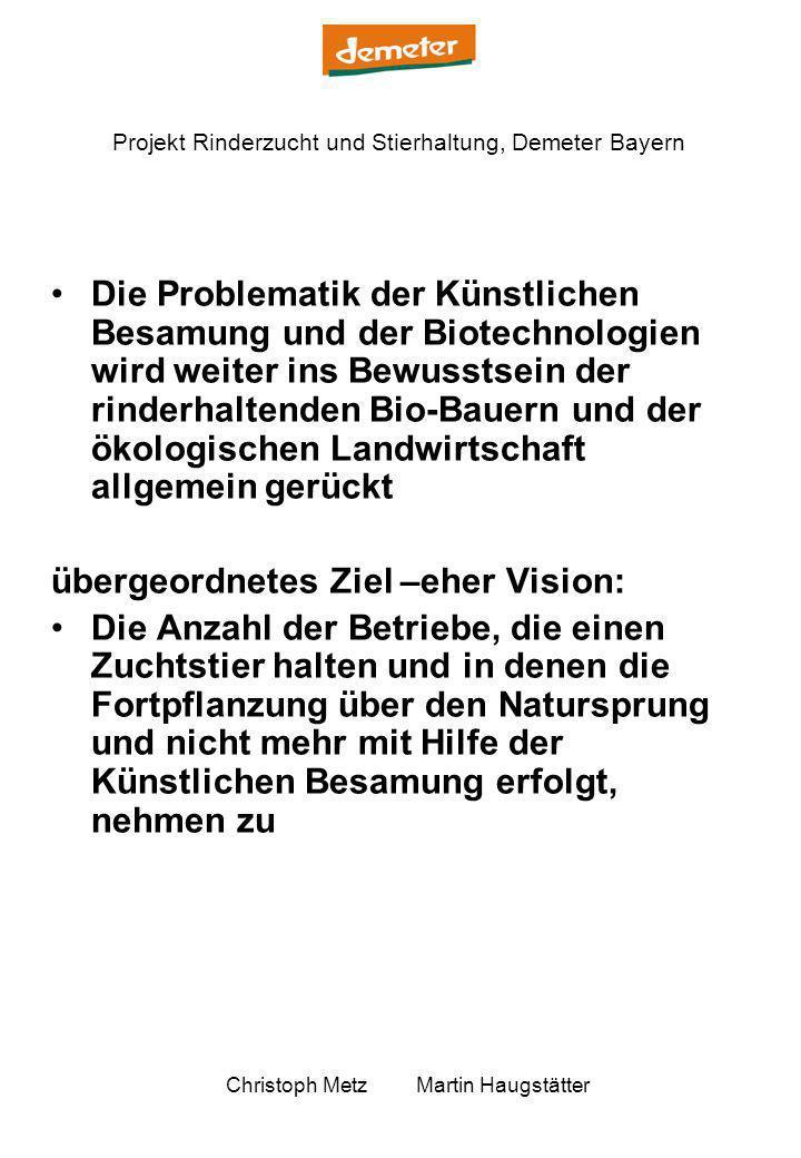 Die Problematik der Künstlichen Besamung und der Biotechnologien wird weiter ins Bewusstsein der rinderhaltenden Bio-Bauern und der ökologischen Landwirtschaft allgemein gerückt