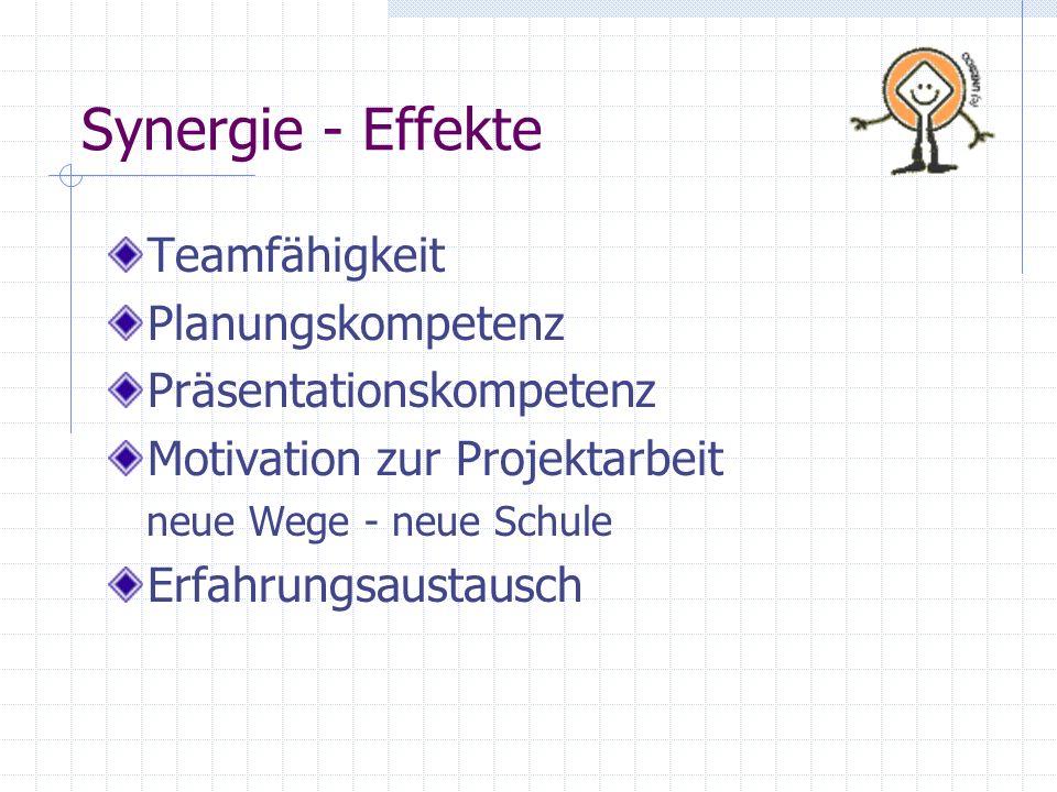 Synergie - Effekte Teamfähigkeit Planungskompetenz