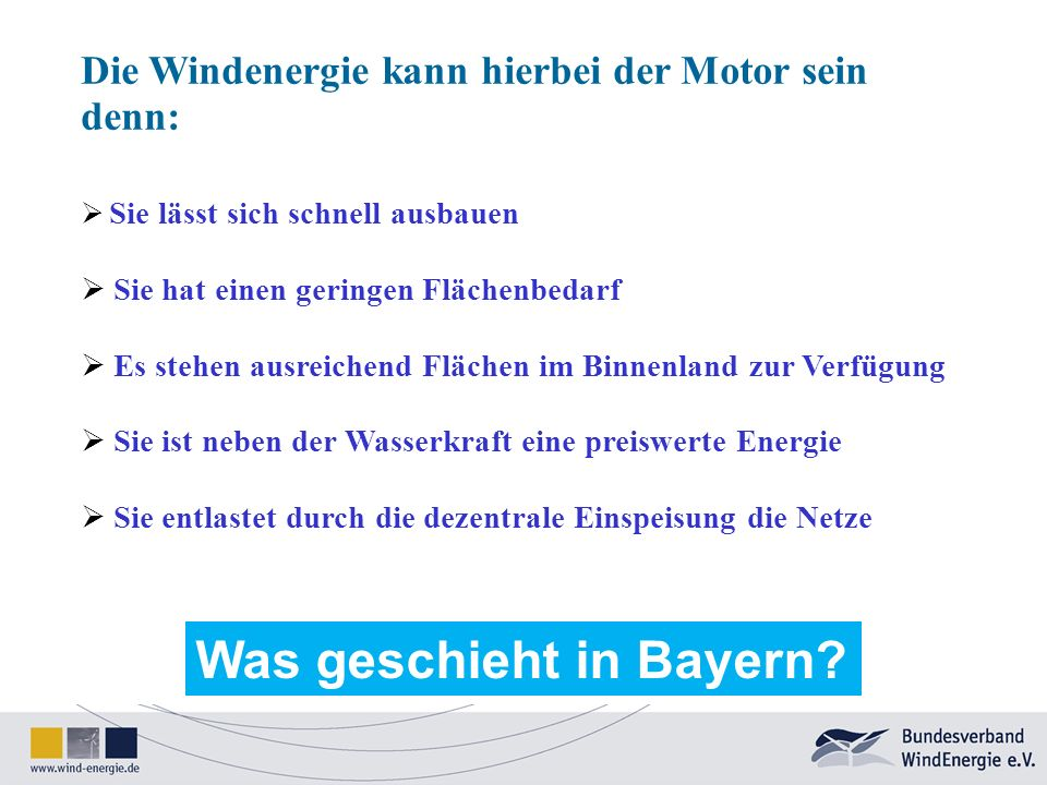 Was geschieht in Bayern