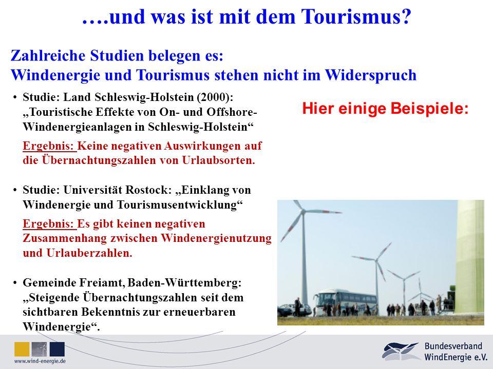 ….und was ist mit dem Tourismus