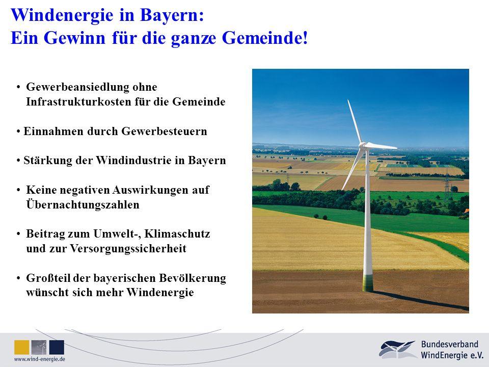 Windenergie in Bayern: Ein Gewinn für die ganze Gemeinde!