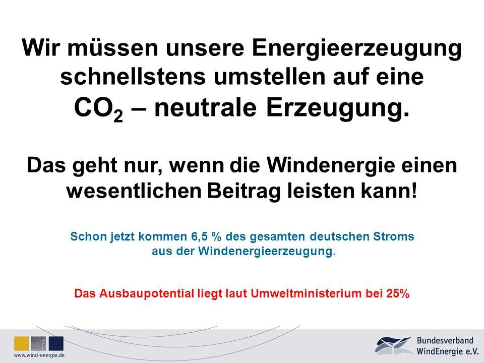 Das Ausbaupotential liegt laut Umweltministerium bei 25%