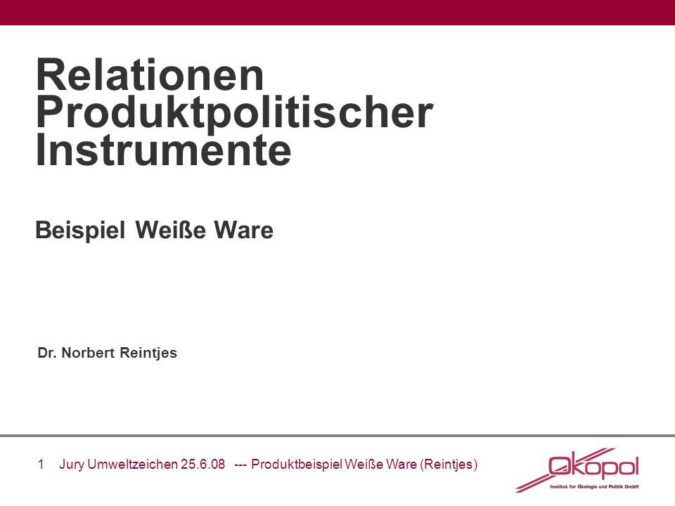 Relationen Produktpolitischer Instrumente