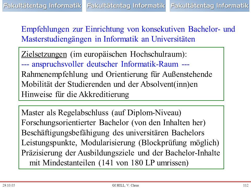 Zielsetzungen (im europäischen Hochschulraum):