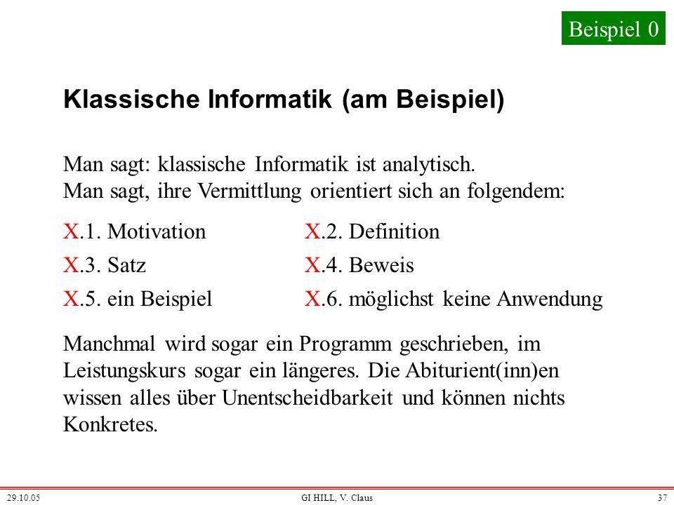 Klassische Informatik (am Beispiel)