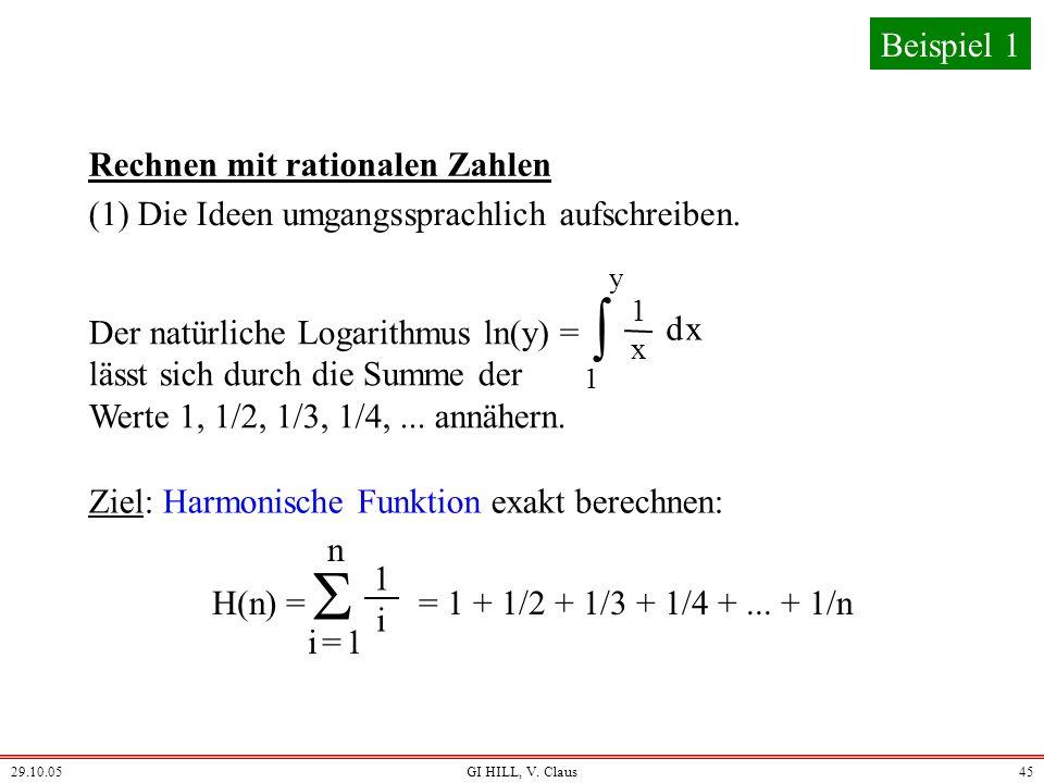   Beispiel 1 Rechnen mit rationalen Zahlen