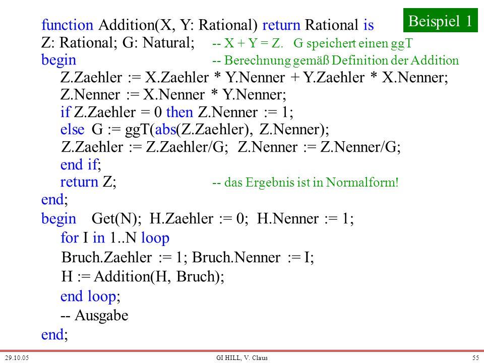 return Z; -- das Ergebnis ist in Normalform! end;