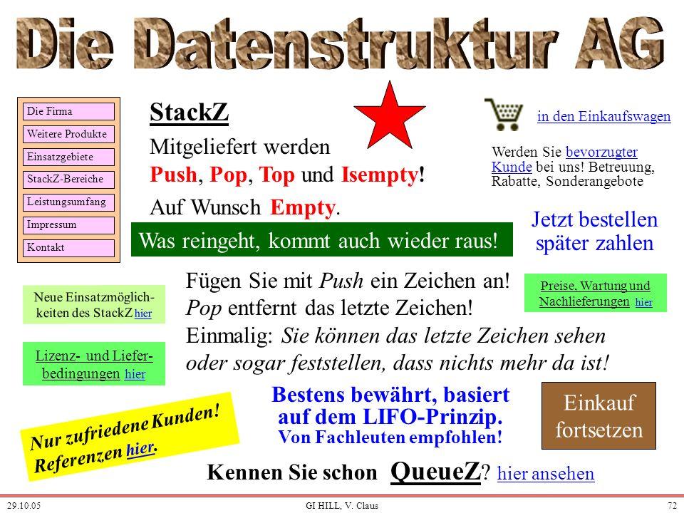 Die Datenstruktur AG StackZ