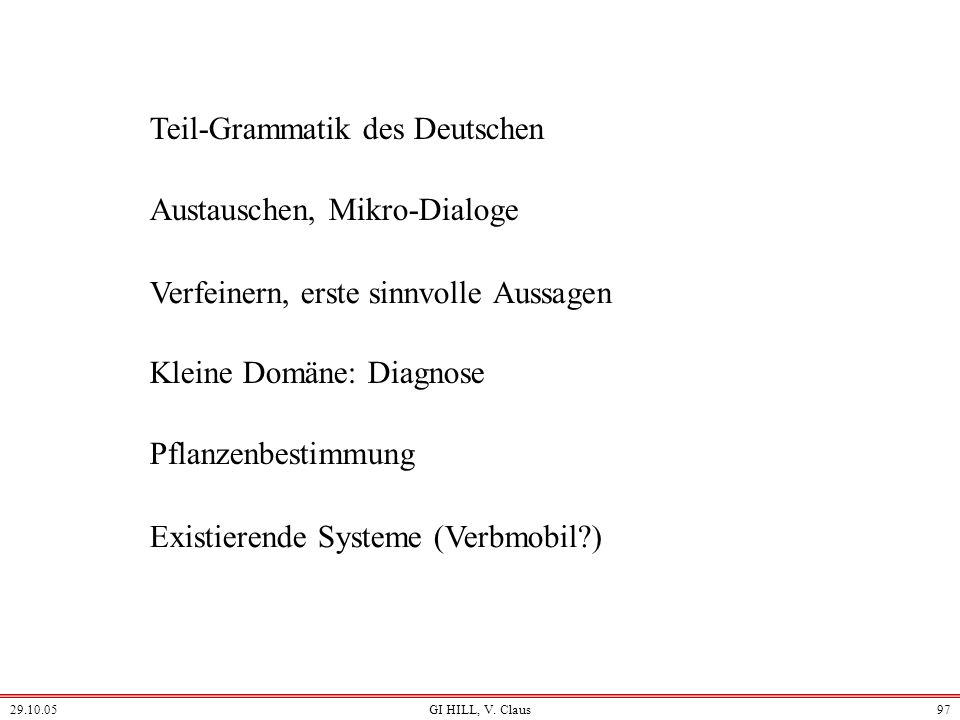 Teil-Grammatik des Deutschen
