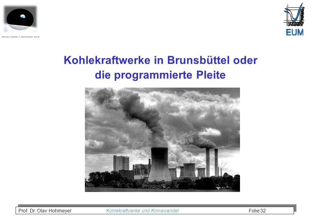Kohlekraftwerke in Brunsbüttel oder die programmierte Pleite