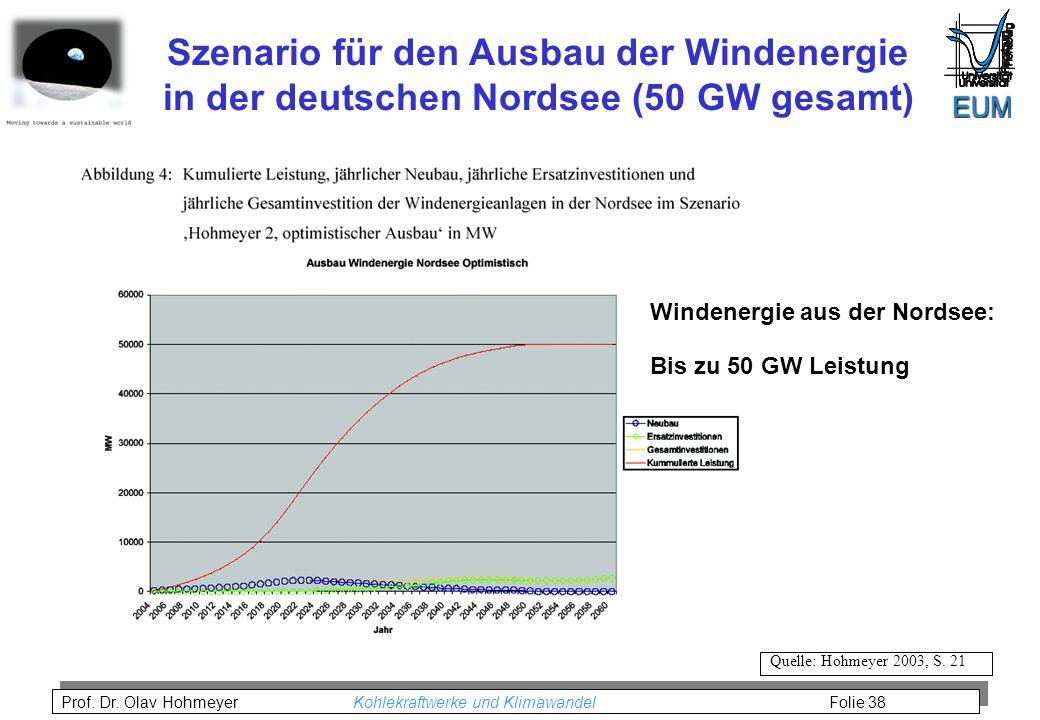 Szenario für den Ausbau der Windenergie in der deutschen Nordsee (50 GW gesamt)