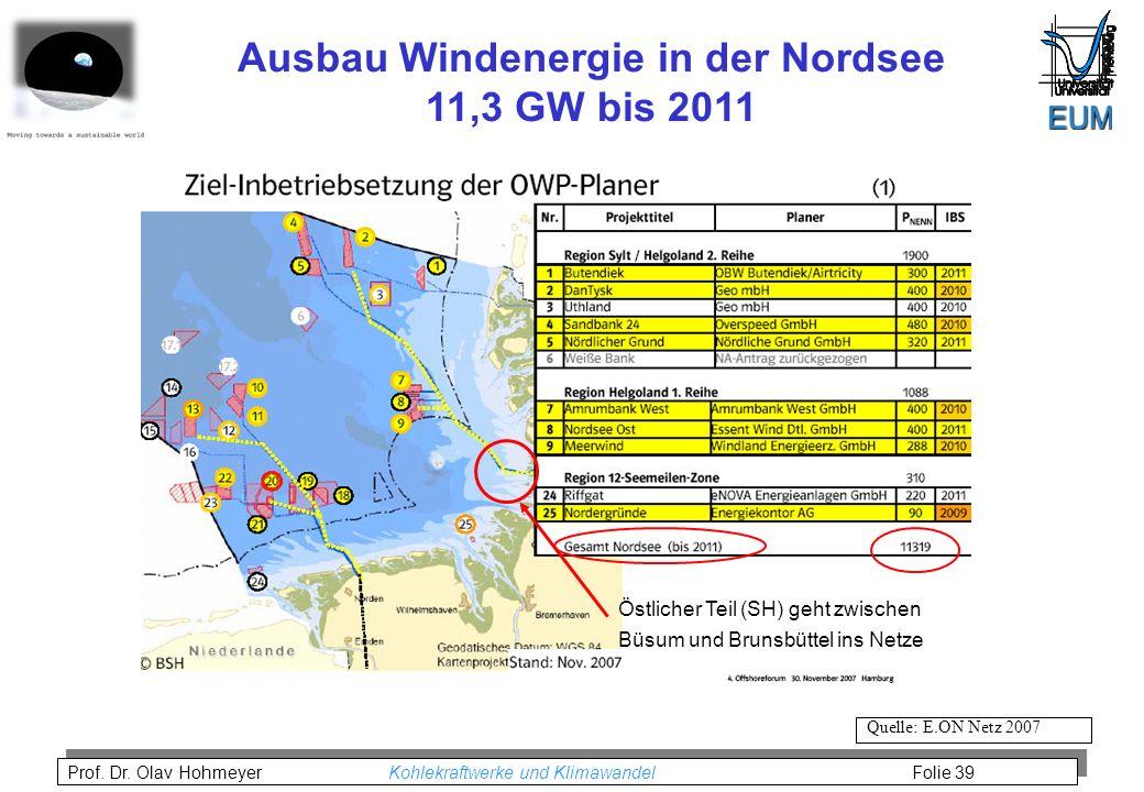 Ausbau Windenergie in der Nordsee