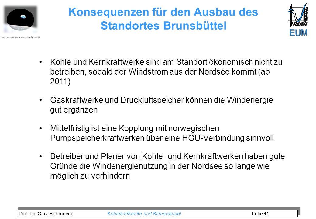 Konsequenzen für den Ausbau des Standortes Brunsbüttel