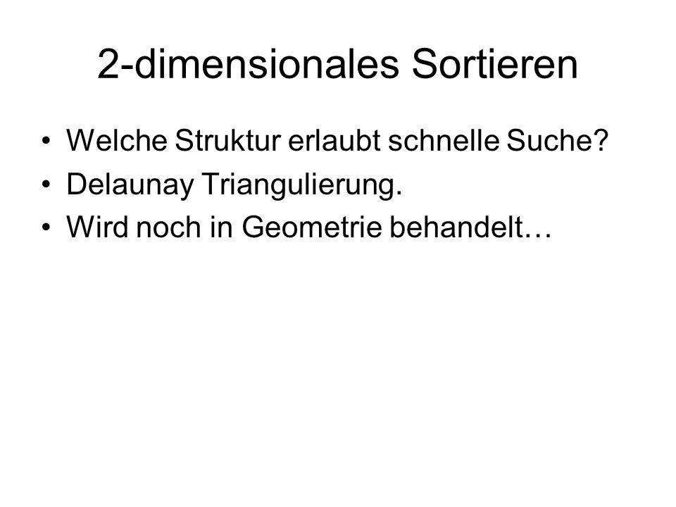 2-dimensionales Sortieren