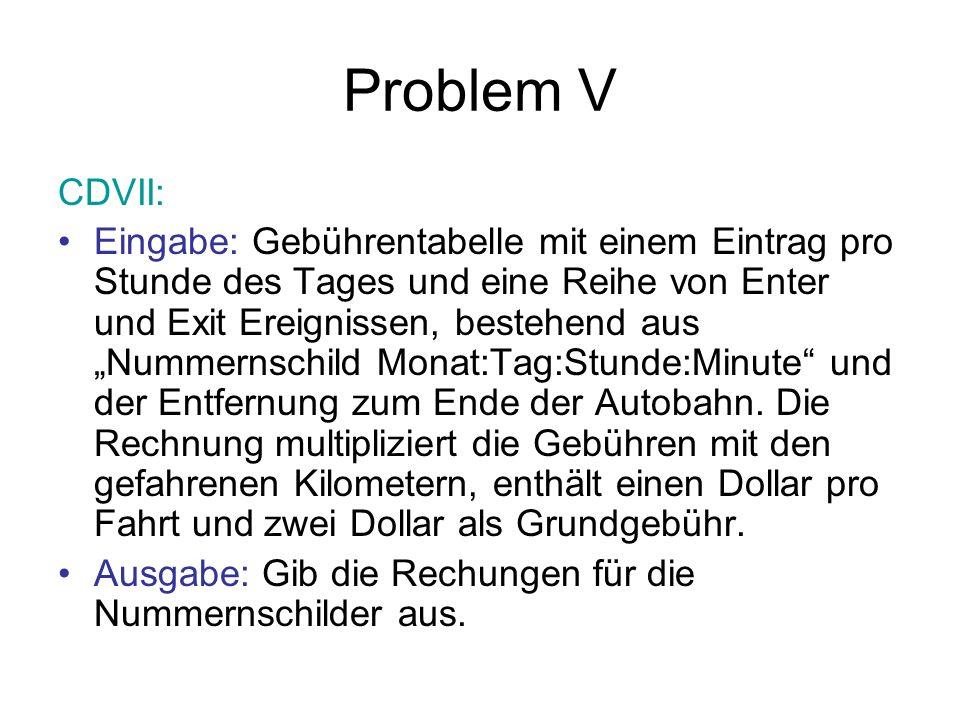 Problem V CDVII: