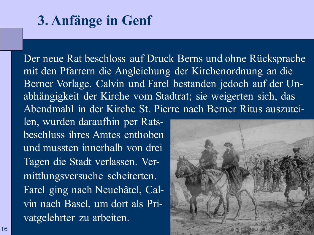 3. Anfänge in Genf
