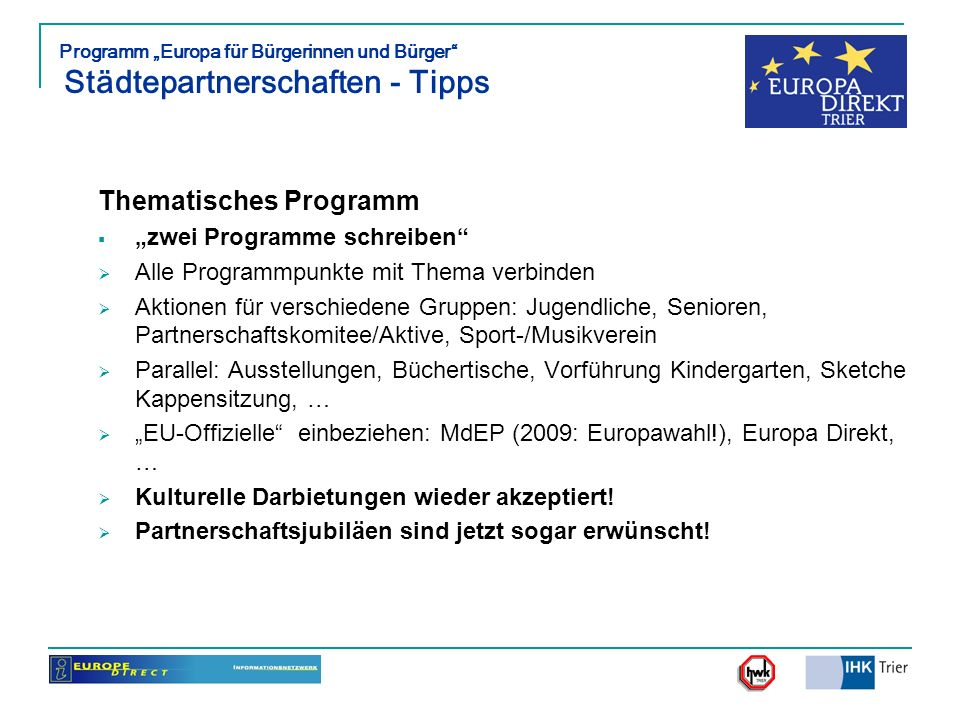 Thematisches Programm