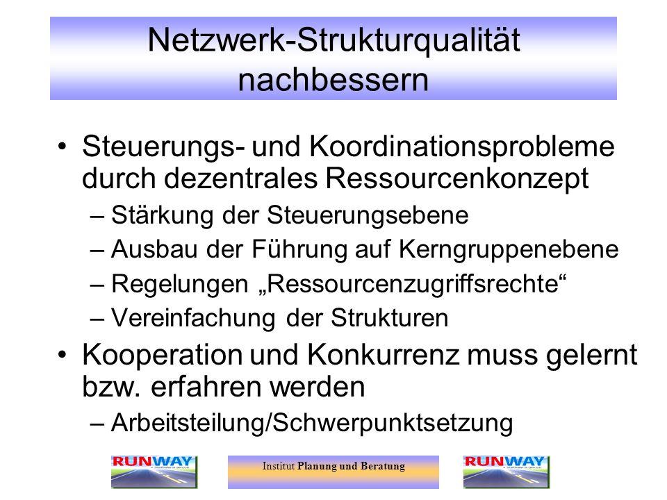 Netzwerk-Strukturqualität nachbessern