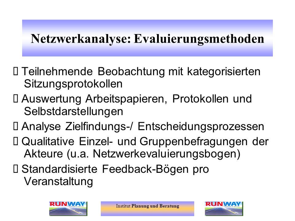 Netzwerkanalyse: Evaluierungsmethoden