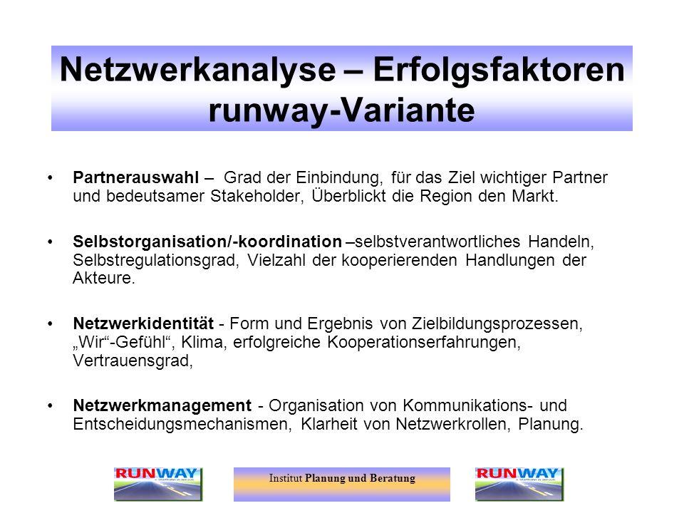 Netzwerkanalyse – Erfolgsfaktoren runway-Variante
