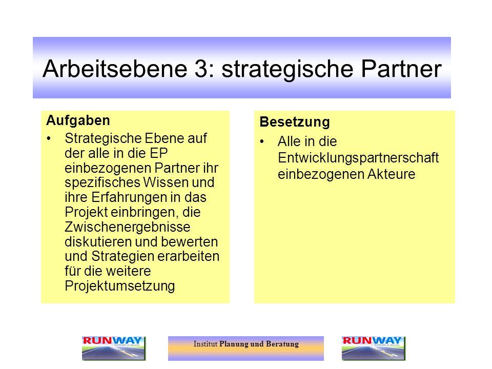 Arbeitsebene 3: strategische Partner