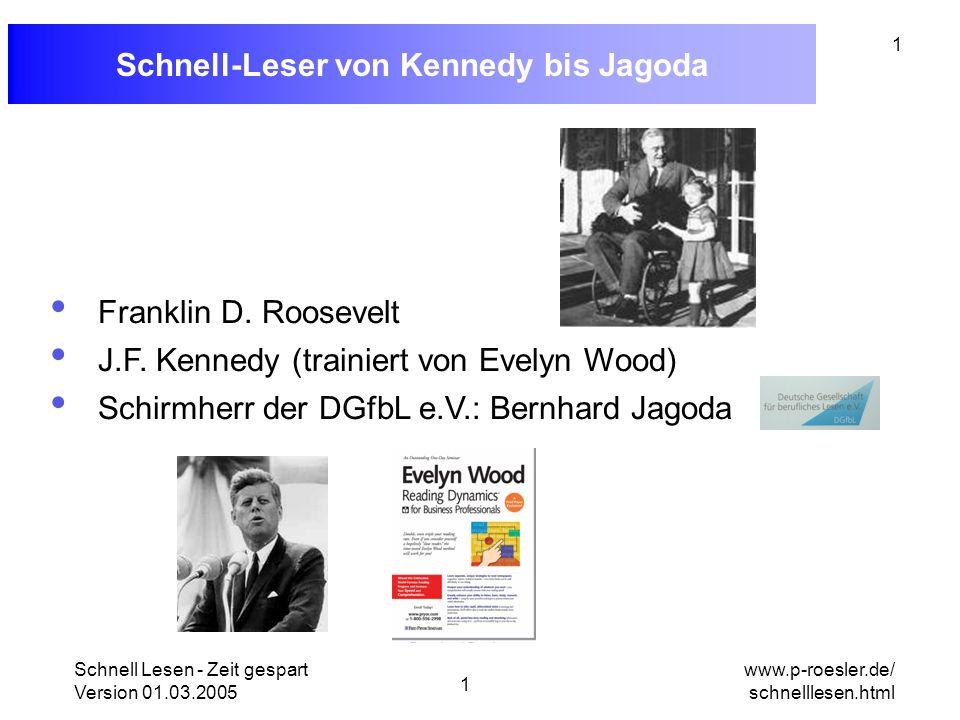 Schnell-Leser von Kennedy bis Jagoda