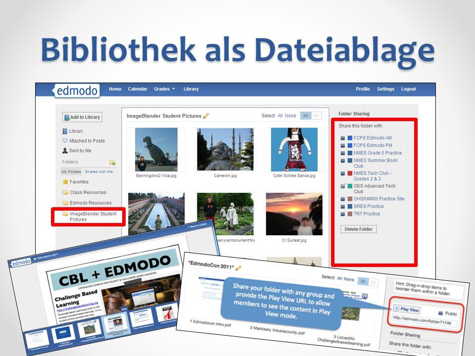 Bibliothek als Dateiablage