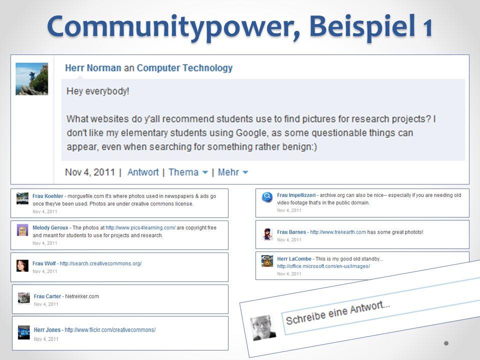 Communitypower, Beispiel 1