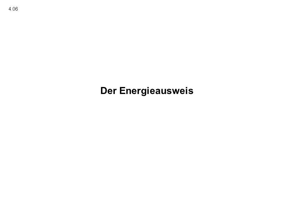 4.06 Der Energieausweis