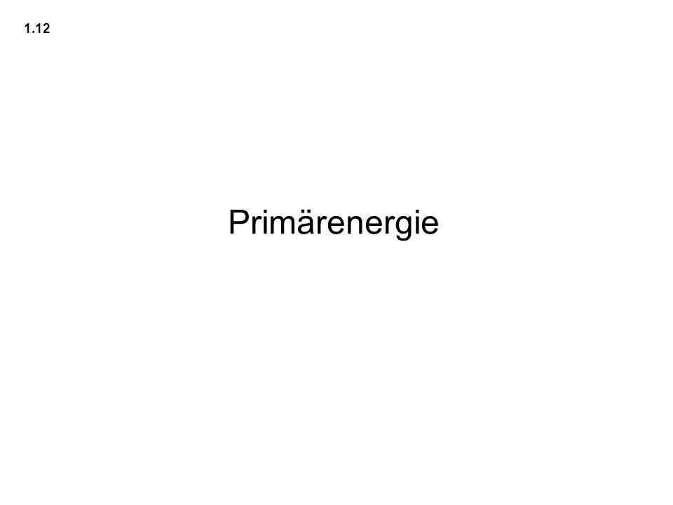 1.12 Primärenergie