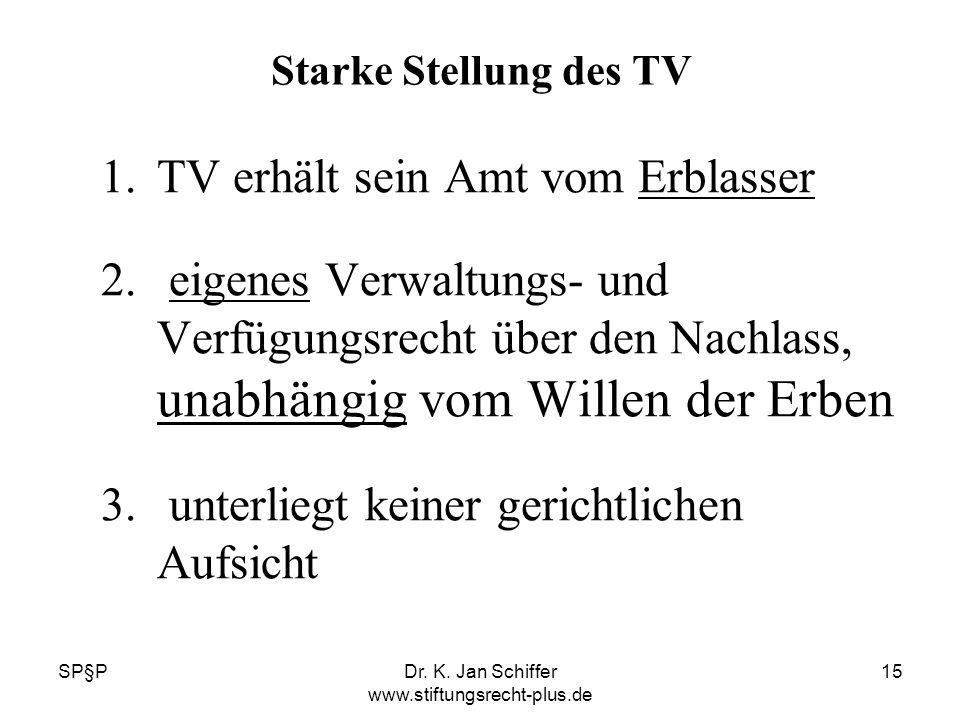 Dr. K. Jan Schiffer www.stiftungsrecht-plus.de
