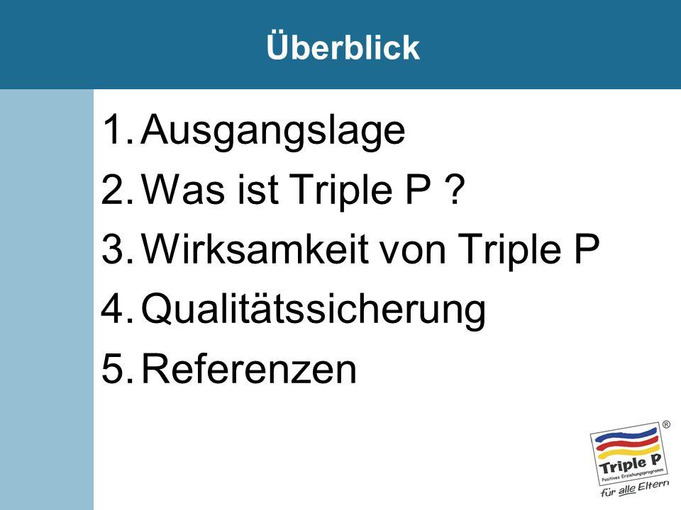 Wirksamkeit von Triple P Qualitätssicherung Referenzen