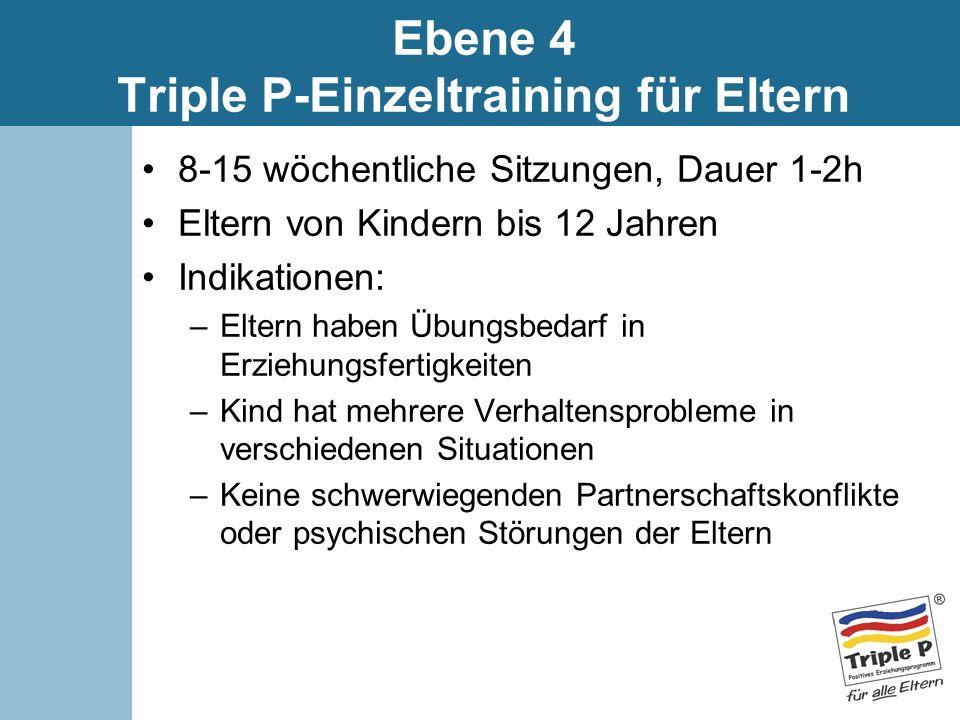 Ebene 4 Triple P-Einzeltraining für Eltern