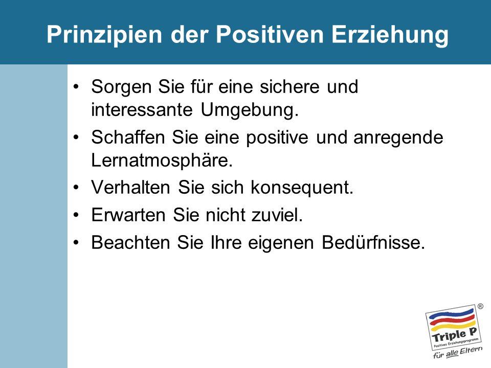 Prinzipien der Positiven Erziehung