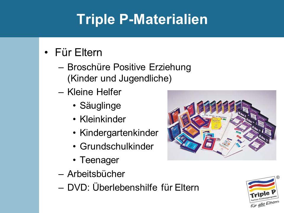 Triple P-Materialien Für Eltern