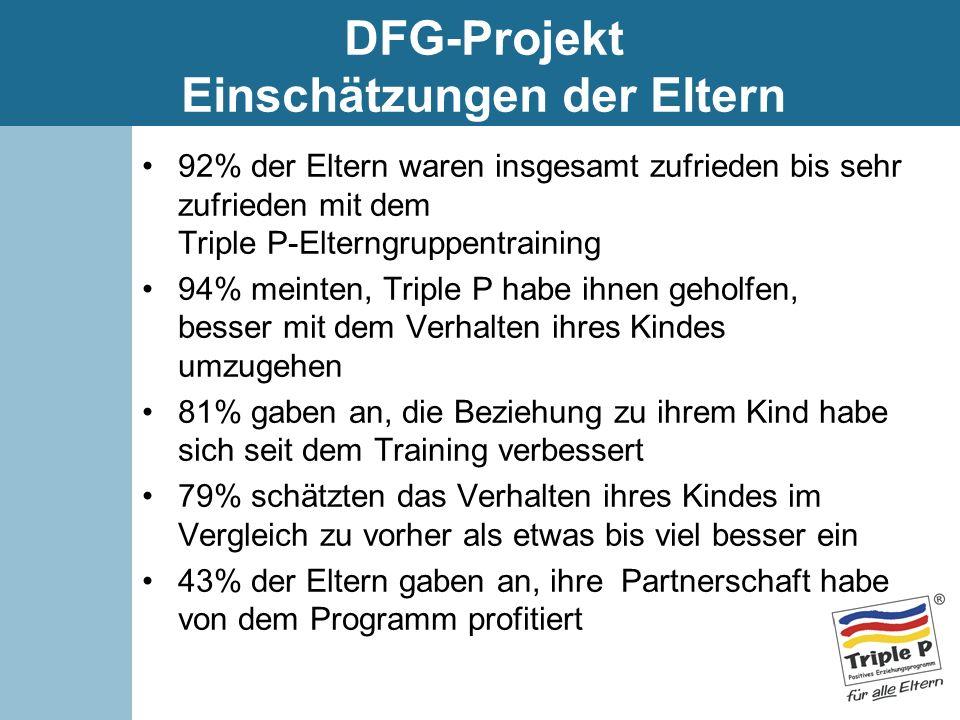 DFG-Projekt Einschätzungen der Eltern