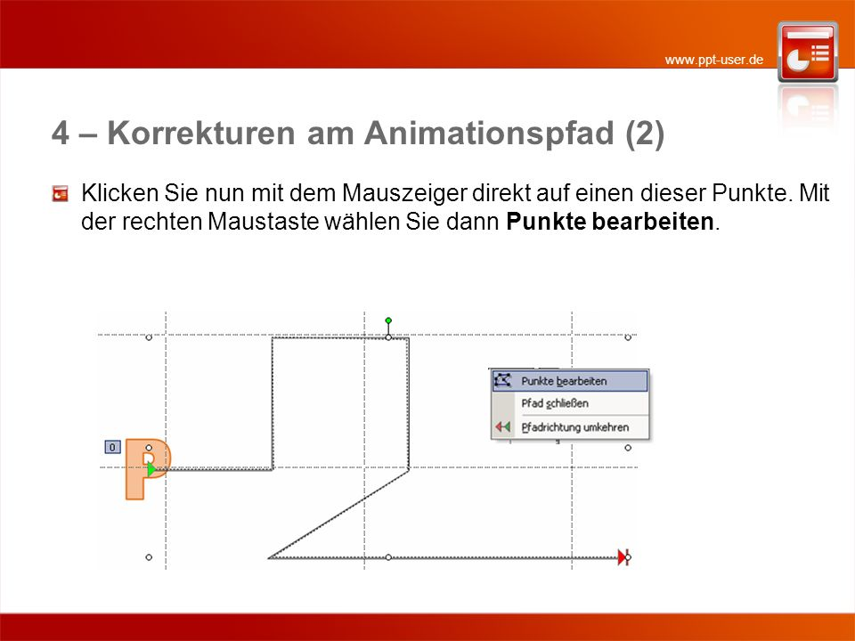 4 – Korrekturen am Animationspfad (2)