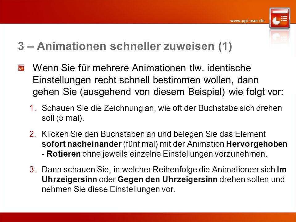 3 – Animationen schneller zuweisen (1)