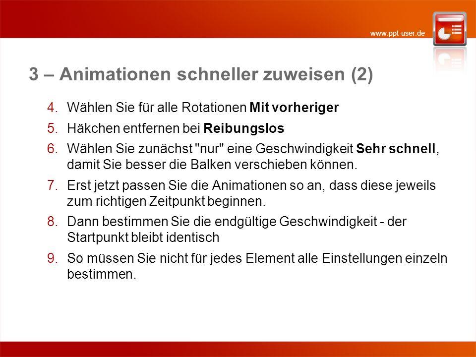 3 – Animationen schneller zuweisen (2)