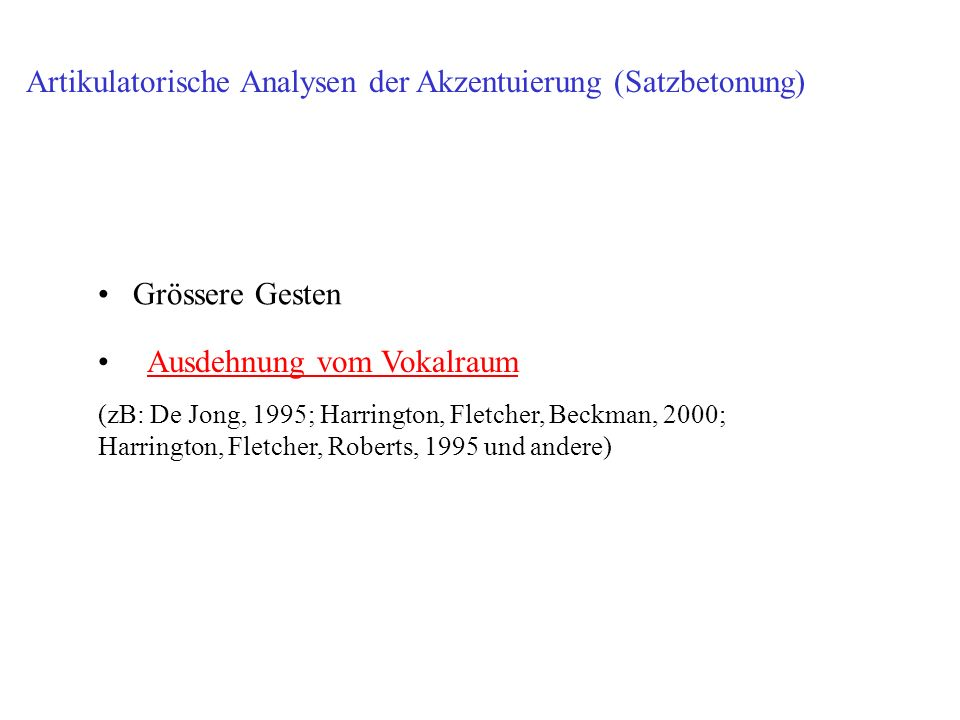 Artikulatorische Analysen der Akzentuierung (Satzbetonung)