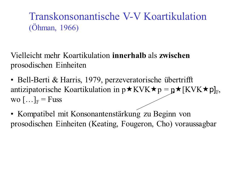 Transkonsonantische V-V Koartikulation