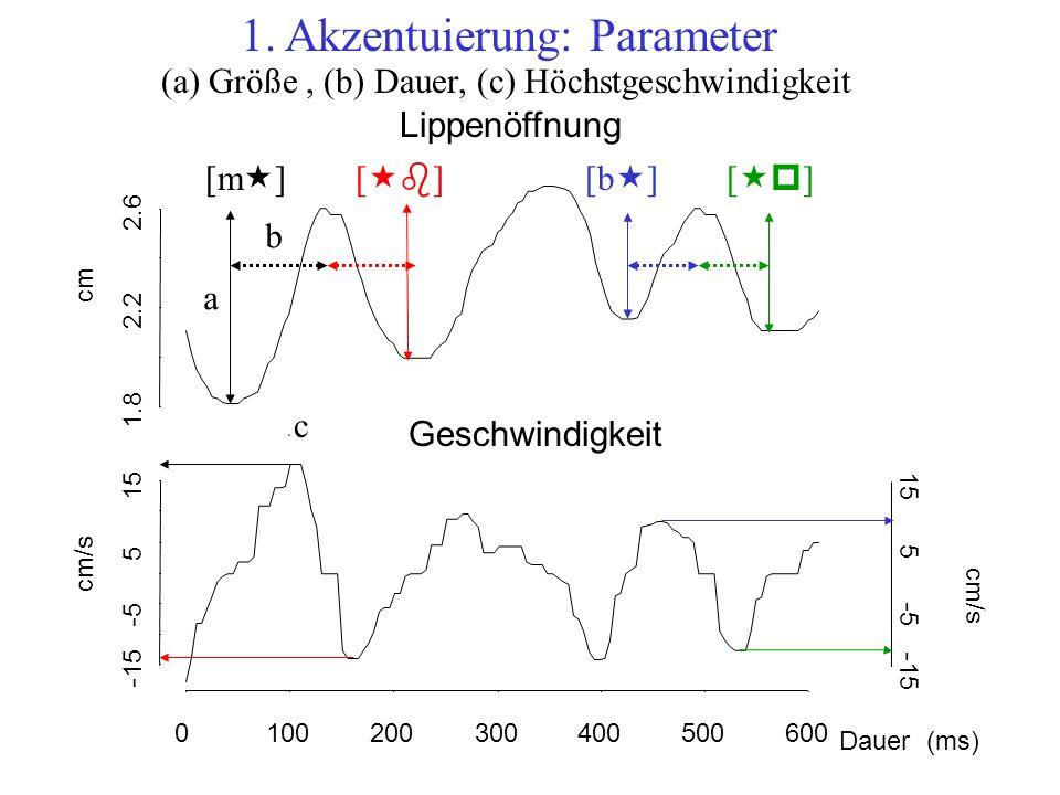 1. Akzentuierung: Parameter